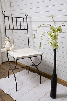 SIPARILA Wall: STRUCTURE interior panel STS 15x85, Tone: white Wishbone Chair, Outdoor Furniture, Outdoor Decor, Bench, Architecture, Wood, Interior, Design, Home Decor