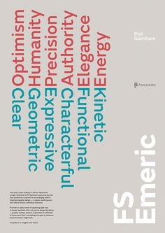 Believe in, Fontsmith — FS Emeric poster series, 2013