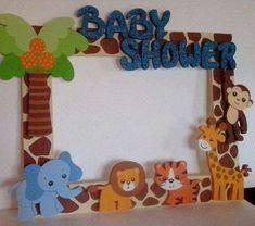 12 Ideas para Elaborar Marcos para Fotos de Baby Shower