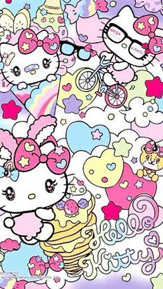 Pin by nicole stubbs on hello kitty + saniro картинки. Hello Kitty Backgrounds, Hello Kitty Wallpaper, Hello Kitty Art, Sanrio Hello Kitty, Cute Wallpapers, Wallpaper Backgrounds, Iphone Wallpaper, Sanrio Wallpaper, Kawaii Wallpaper