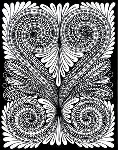 Check out this great heart design I came across. Keep your eyes open and follow us at bestadultcoloringbooks because we will be offering our second free adult coloring book for download from amazon in a few days!