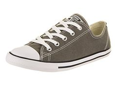 255400041e93 Converse Women s Chuck Taylor All Star Dainty Ox Charcoal Casual Shoe 9  Women US Sneakers Outfit