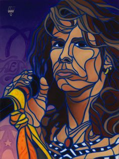 Dream On Steven Tyler painting by Timothy Teruo Watters Steven Tyler Aerosmith, Mosaic Crafts, Art Music, Indian Art, Cool Artwork, Rock Art, Female Art, Rock And Roll, Oil On Canvas
