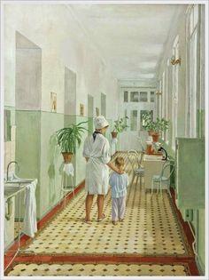 Татьяна Лившиц. «На операцию» (из серии «Морозовская больница). 1967 г.