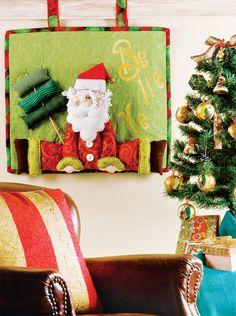 Panô de patchwork para o Natal