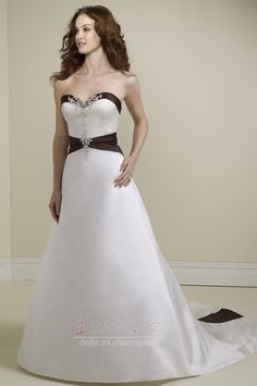 Kostel+Přírodní+pas+Délka+podlahy+Elegantní+Zip+nahoru+Svatební+šaty