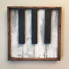 Rustic Piano wood wall art ... awesome Handmade gift for piano / music teacher