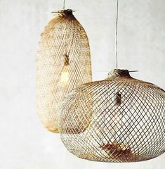 bloomingville-lamparas Estilo Tropical, Hanging Chair, Ceiling Lights, Interior Design, Lighting, Pendant, Home Decor, Bamboo Lamp, Modern Lighting