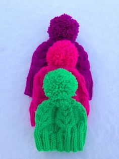 What's better than cable beanies? NEON CABLE BEANIES!!