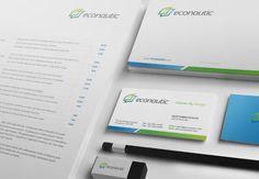 Econautic stationery design