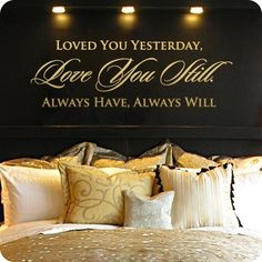 cute saying... and another black accent wall