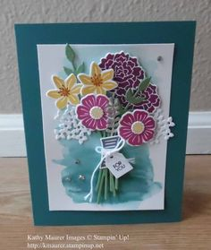 Birthday Card made with Stampin' Up!'s Beautiful Bouquet Bundle. For details, go to my Wednesday, June 21, 2017 blog at http://www.stampinup.net/blog/2130686/entry/june_21
