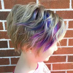 Little Girls' Long Wavy Pixie Hairstyle