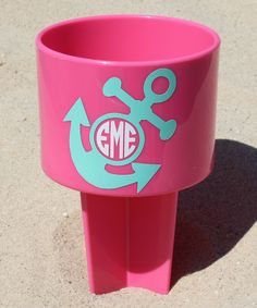 Pink Anchor Monogram Sand Spike