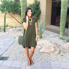 LuLaRoe Carly dress in olive green, LOVE this outfit!