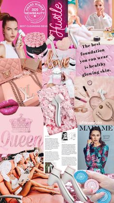 My Beauty, Hair Beauty, Galvanic Spa, Nu Skin, Healthy Skin Care, Pink Wallpaper, Good Vibes Only, Clear Skin, Wall Collage