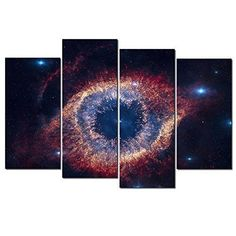 K&N Helix Nebula Space Canvas HD Giclee Printed Wall Art Decor Picture Framed US #KN #Modernism