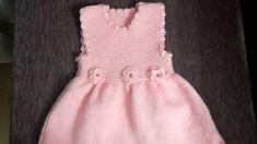 Volan Ve Çiçek Süslemeli Çocuk Jilesi / Elbisesi Yapımı. 2 .3 yaş - Örgü resimli anlatımlı örgü sitesi Drops Design, Baby Knitting Patterns, Dresses, Fashion, Baby Gown, Vestidos, Moda, Fashion Styles, Dress