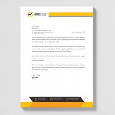 Letterhead template in flat style Premiu... | Premium Vector #Freepik #vector #logo #business-card #brochure #flyer