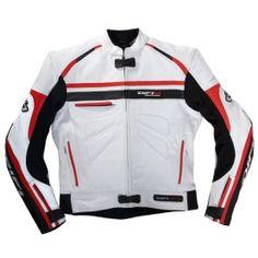 Blouson cuir moto Difi San Carlos blanc/rouge