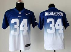 """$28.88 at """"MaryJersey""""(maryjerseyelway@gmail.com) Nike Colts #34 Trent Richardson Royal Blue-White Men's Embroidered NFL Elite Fadeaway Fashion Jersey"""