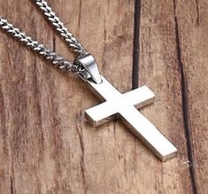 Crucifix-Silver-Gold-Black-Cross-Pendant-Necklace-with-Black-Pouch-UK-delivery