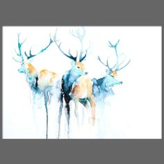JEN BUCKLEY signed open EDITON PRINT of my original highland STAGS