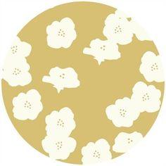 Birch Organic Fabrics, DOUBLE GAUZE, Poppies Sun