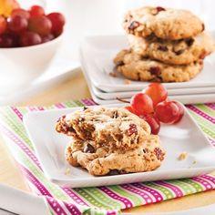 Galettes avoine-chocolat-canneberges - Recettes - Cuisine et nutrition - Pratico Pratique
