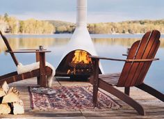 A well-designed fire pit outdoors takes the chill off an evening with friends | domino.com