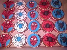 Spiderman toppers - Hettie Jordaan Celebration Cakes, Spiderman, Decorative Plates, Create, Home Decor, Spider Man, Homemade Home Decor, Decoration Home, Interior Decorating