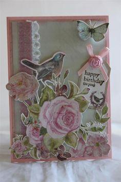 bird rose card true romance