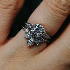 My custom engagement ring and wedding band together! - Imgur