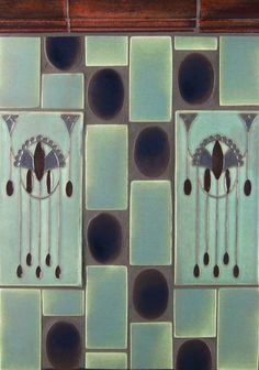 "Tile Gallery - Art Deco""Art Deco"" relief decos in Socialite and EspressO Tile Art, Mosaic Art, Mosaic Tiles, Backsplash Tile, Art Deco Bar, Art Deco Design, Art Deco Kitchen, Kitchen Backsplash, Art Nouveau Interior"