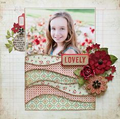 Lovely scrapbook layout by Stacey Cohen - Weekly Scrapper