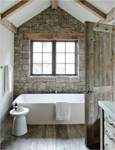 RUSTIC - nice mix of stone and wood textures