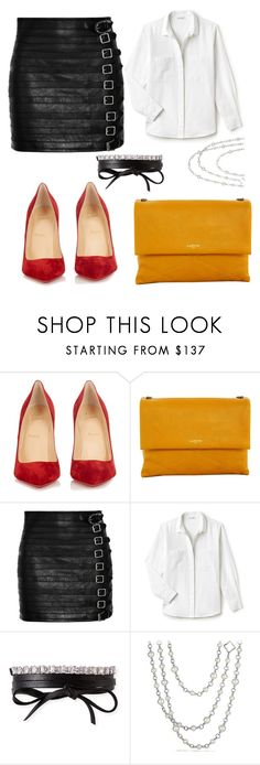 """""""Untitled #1511"""" by filipaloves ❤ liked on Polyvore featuring Christian Louboutin, Lanvin, Gucci, Lacoste, Fallon and David Yurman"""