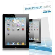 amFilm iPad 2 Screen Protector HD Clear for Apple iPad 4/3/2 and iPad with Retina Display (2-Pack) (NOT for iPad Air/iPad 5)