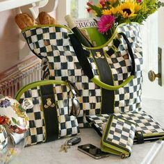 MacKenzie Childs purses.  Love!!!