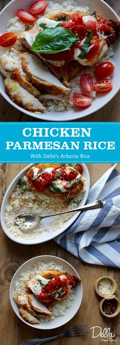 Some recipes you make over and over again for a reason-- they are just plain good. Chicken parmesan has been a favorite of mine. Chicken Rice Recipes, Arborio Rice, Cooking Recipes, Healthy Recipes, Bon Appetit, Parmesan, Dinner, Ethnic Recipes, Food