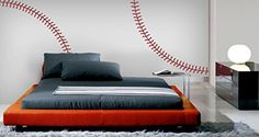 Baseball Stitches Wall Decal 47X34 ** Check out the image by visiting the link. (This is an affiliate link and I receive a commission for the sales)