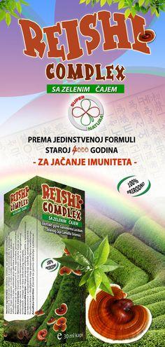 Reishi Complex sa zelenim čajem. Promo, strana 1.