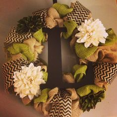 Burlap Wreath -DIY