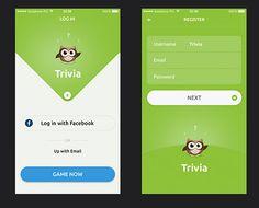 trivia ui app design