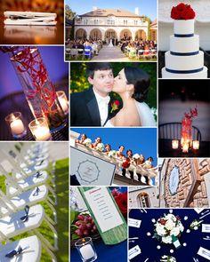 Blue wedding ideas | Red wedding ideas | navy and red wedding ideas | elegant wedding ideas | Photography: Photo by Gannon