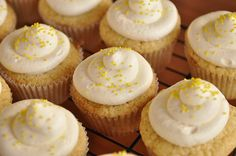 lemon cupcakes....must try  http://www.yourhomebasedmom.com/lemon-curd-cupcakes-with-lemon-cream-cheese-frosting/