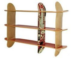 Cool way to use old skateboards.