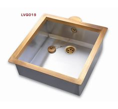 brass and antique stainless steel sink / Restart Florence