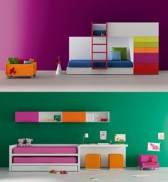 This uber minimalist design packs a kid-friendly punch of colour.