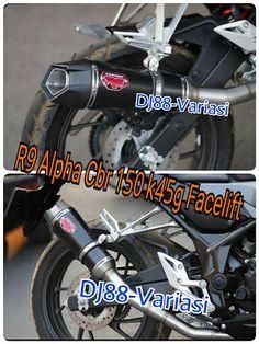 Original Knalpot R9 Alpha cbr 150 k45g facelift led cbr k46 full system aksesoris cbr 150 k45g racing